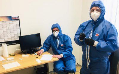 Firmeninterne Coronavirus-Teststraße
